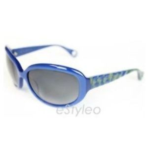 Betsey Johnson Sunglasses Safani Oval Blue Green